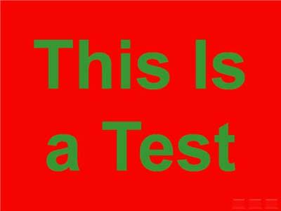 สีแดงและสีเขียวบนสไลด์