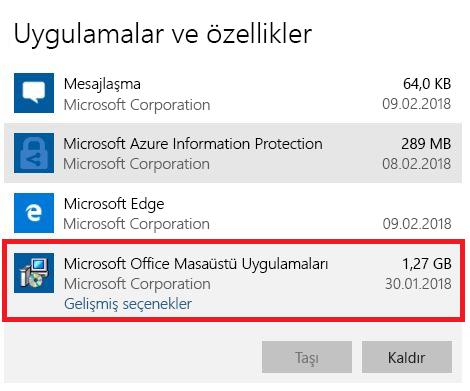 Microsoft Office Masaüstü Uygulamaları