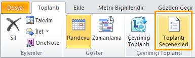 Outlook şerit görüntüsü