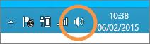 Görev çubuğunda gösterilen Windows hoparlörlerine odaklanma