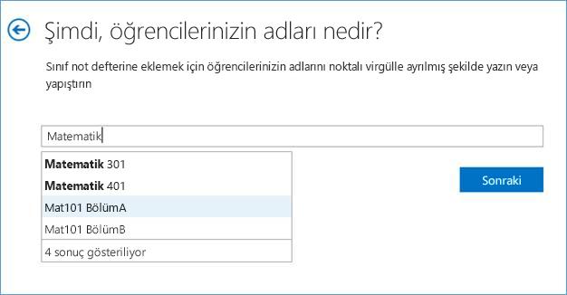 Sınıf Not Defteri uygulamasına grup ekleme ekran görüntüsü.