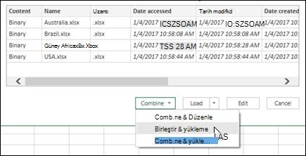 İkili dosyalarını birleştir birleştirmek ve yük seçeneği