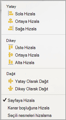 Sayfaya Hizala