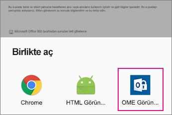 Android e-posta uygulaması 2 ile OME Görüntüleyicisi