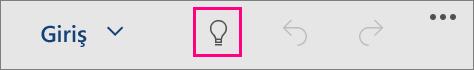 """Windows 10 Mobile için Office'de """"Göster"""" simgesini gösterir"""