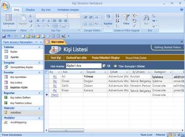 Kişi yönetimi veritabanı