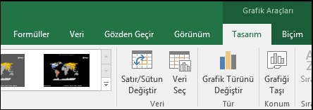 Excel Harita Grafiği Şerit Araçları