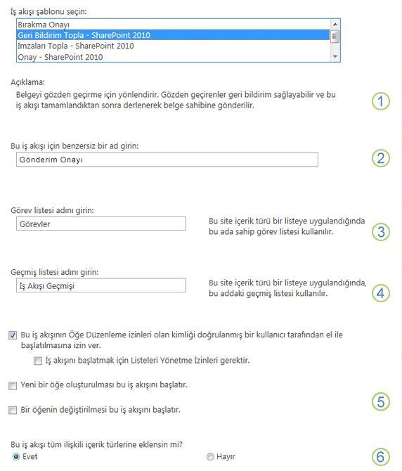 İlişkilendirme formunun, belirtme çizgileriyle numaralandırılmış ilk sayfası