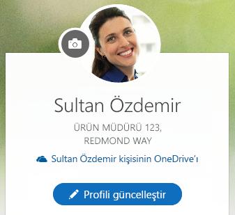 Bilgilerinizi değiştirmek için Profili güncelleştir'e tıklayın