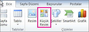 Office 2010 Küçük Resim Ekleme