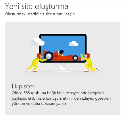 SharePoint Office 365 Site oluşturma