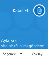 Dosya aktarımı açılan pencere uyarısı ekran görüntüsü