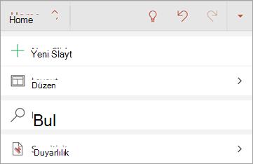 Android için Office 'te duyarlılık düğmesinin ekran görüntüsü