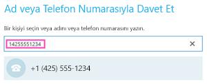 Skype Kurumsalda telefon numarası çevirme