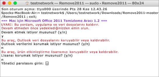 Açmak için Control tuşuna basılı tutup tıklayarak Remove2011 aracını çalıştırın.