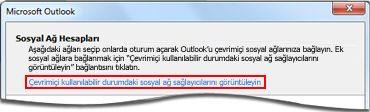 Outlook Social Connector sağlayıcı sayfasına bağlantı