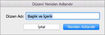 Mac için PPT Asıl Slayt Düzeni Yeniden Adlardır