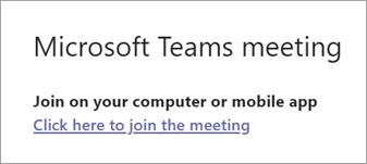 Toplantıya katılmak için buraya tıklayın'ı seçin