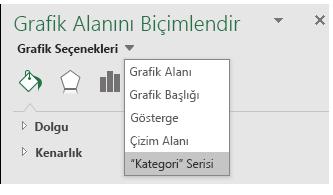 Excel harita Grafiği Serisi seçeneği seçimi