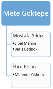Önce: var olan kuruluş şeması