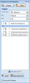 Tarayıcı denetimi için özellik sayfasını açma