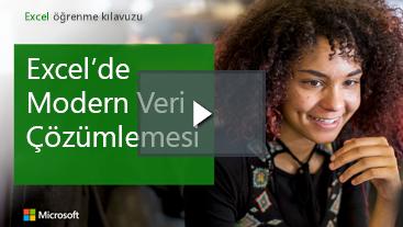 Excel için eğitim Kılavuzu gülümseyen kadın