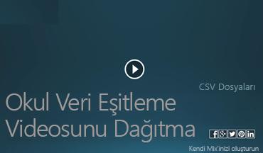 Okul Veri Eşitleme Videosunu Dağıtma