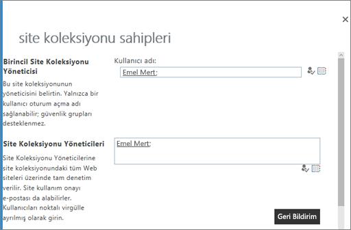 Bir OneDrive sahiplerini Yönet