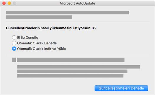 Mac için Microsoft AutoUpdate