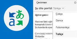 Outlook e-postalarınızı tercih ettiğiniz dilde okuma