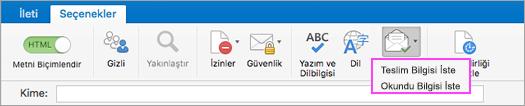 E-posta teslim bildirimlerini alın.