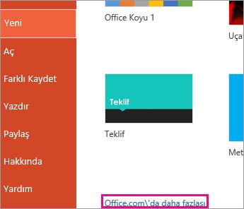 Office.com'dan Daha Fazla