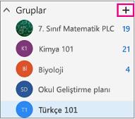 Web üzerinde Outlook'ta Oluştur düğmesi vurgulanmış olarak sol gezinti bölmesi