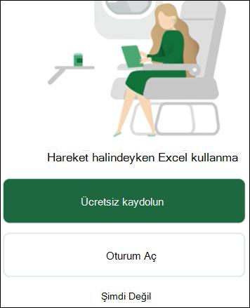 Hareket halindeyken Excel kullanma