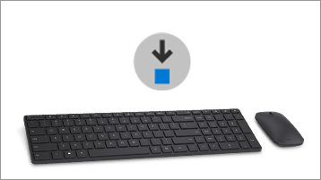 İndirme simgesi ve fare ve klavye