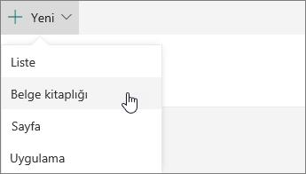 SharePoint Online'da yeni menüsü