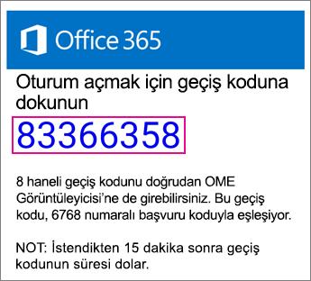 OME Görüntüleyicisi geçiş kodu e-posta