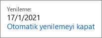 Office 365 Ev aboneliğinde otomatik yenilemeyi kapatma bağlantısı.
