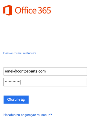 Outlook'ta kuruluş hesabınızla oturum açma