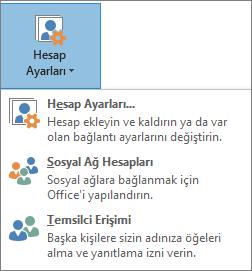 Outlook'ta temsilci ekleme ekran görüntüsü