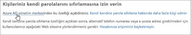 Azure yönetim merkezine gitme bağlantısını seçin.