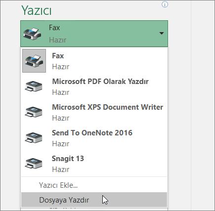 Calisma Sayfasi Veya Calisma Kitabi Yazdirma Excel