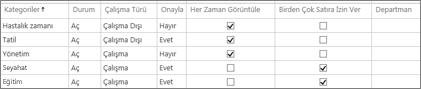Yönetim zamanı kategorileri