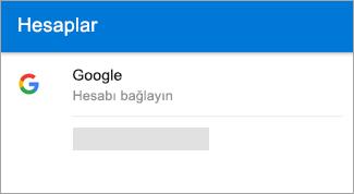 Android için Outlook otomatik olarak Gmail hesabınızı bulabilir.