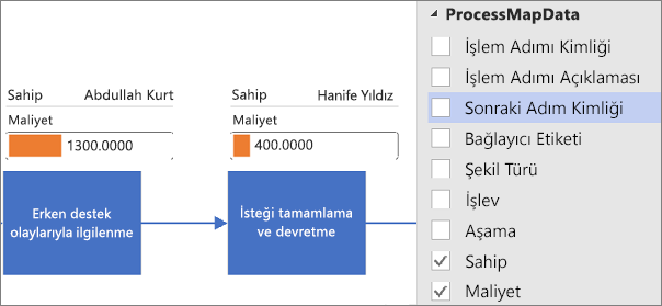 Visio Veri Görselleştiricisi Diyagramı için Veri Grafiklerini Uygulama