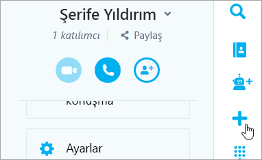 Yeni sohbet düğmesinin Ekran görüntüsü