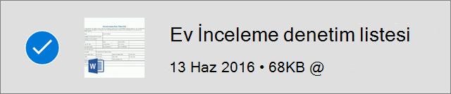 çevrimdışı olarak işaretlenmiş OneDrive dosyası