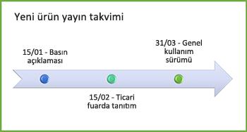Örnek zaman çizelgesi grafiği