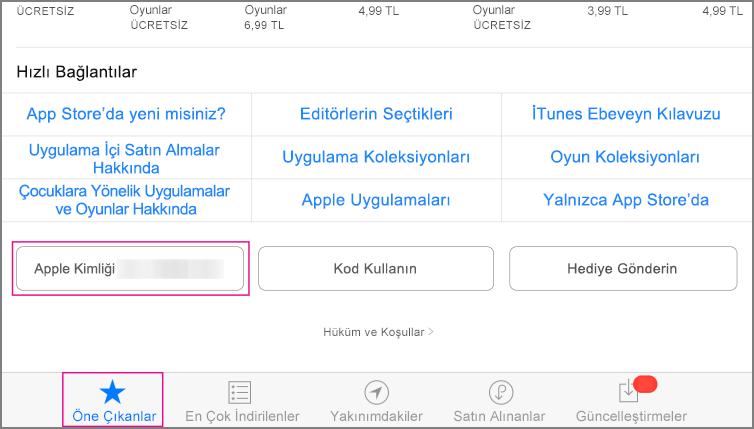 App Store öne çıkanlar bölümü