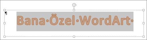 Seçilen WordArt